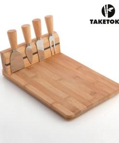 Conjunto Tábua de Queijos de Bambu (5 pçs)