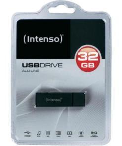 Pendrive INTENSO Alu Line 3521481 USB 2.0 32GB Preto