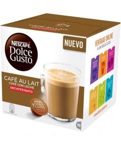 Cápsulas de café Nescafé Dolce Gusto 97934 Café Au Lait (16 uds) Descafeinado