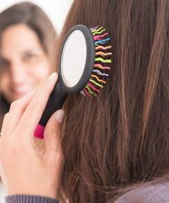 Escova de Cabelo com Espelho Arco-Íris