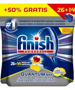 Pastilhas para Máquina de Louça Finish Quantum Limão (40 Doses)