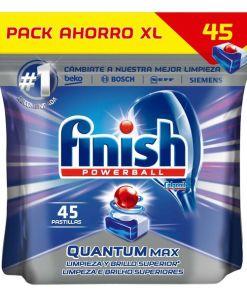 Pastilhas para Máquina de Louça Finish Quantum Regular (45 Doses)