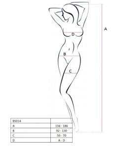 PASSION WOMAN BS014 BODYSTOCKING RED ONE SIZE