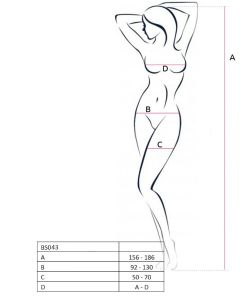 PASSION WOMAN BS043 BODYSTOCKING WHITE ONE SIZE