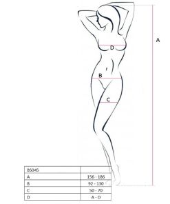 PASSION WOMAN BS045 BODYSTOCKING WHITE ONE SIZE