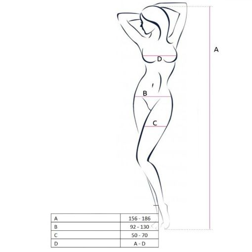PASSION WOMAN BS062 BODYSTOCKING BLACK ONE SIZE