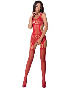 PASSION WOMAN BS066 BODYSTOCKING RED ONE SIZE