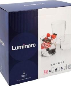 Conjunto de Copos Luminarc Gorbea Transparente Vidro (18 pcs)