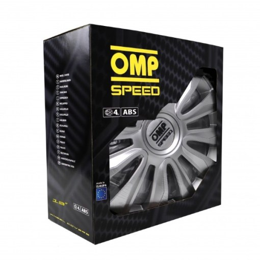 """Tapacubos OMP Magnum Speed Prateado 13"""" (4 uds)"""
