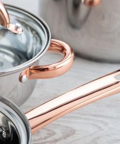 Bateria de Cozinha Quid Vanity Aço inoxidável (4 Pcs)