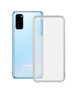 Capa para o Telemóvel com Extremidades em TPU Samsung Galaxy S20 Ultra Contact Flex Transparente