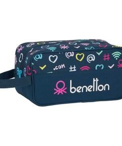 Bolsa para Sapatos de Viagem Benetton Dot Com Poliéster Azul Marinho