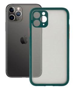 Capa para Telemóvel iPhone 11 Pro KSIX Duo Soft Verde