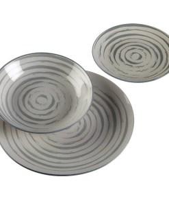 Conjunto de Louça Espiral Porcelana (18 Peças)
