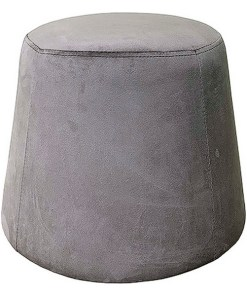 Puff Velvet Cinzento (44 x 44 x 35 cm)