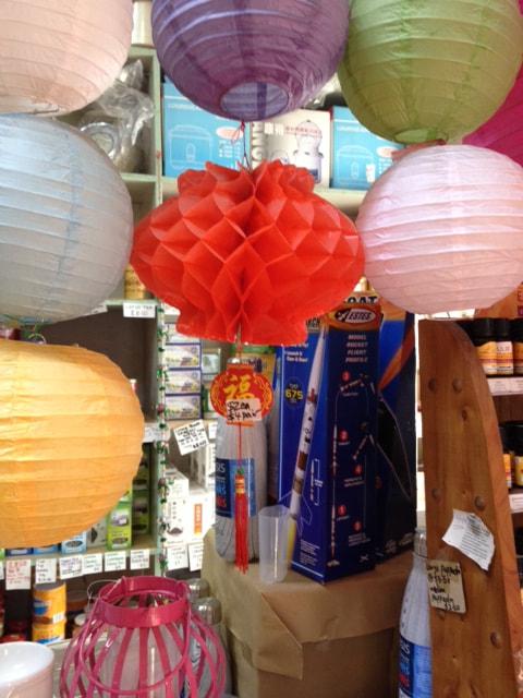 Lanterns Red Honeycomb