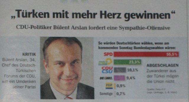Wahlumfrage unter Deutschtürken - Focus Nr. 13/2009