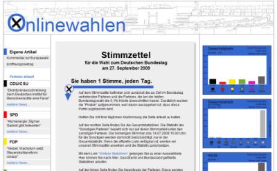 Onlinewahlen.com - 19.07.2009