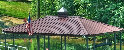 Aluminum Boat Dock Roof Choices from Wahoo Docks