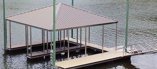 aluminum boat dock anchoring wahoo docks