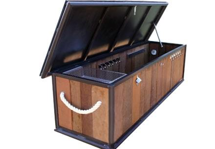 Ipe Dock Box For Wahoo Docks Aluminum Floating Docks