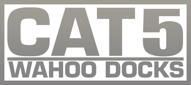 CAT5 wahoo aluminum docks floating boat docks logo for website