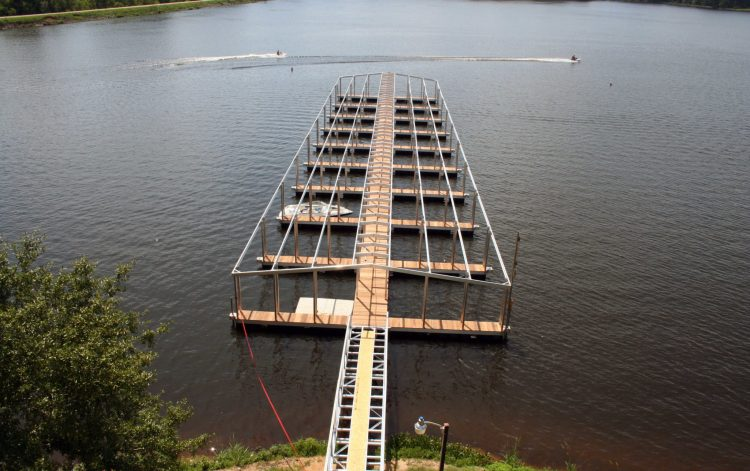 wahoo aluminum docks commercial marine construction at percy quinn state park under construction
