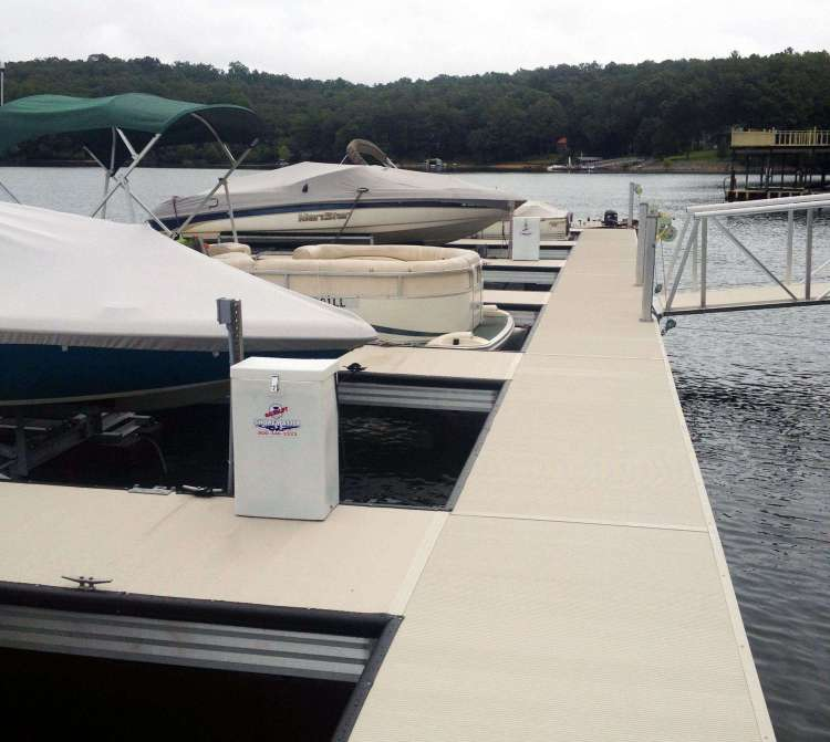 hideaway aluminum dock construction from wahoo commercial marine construction