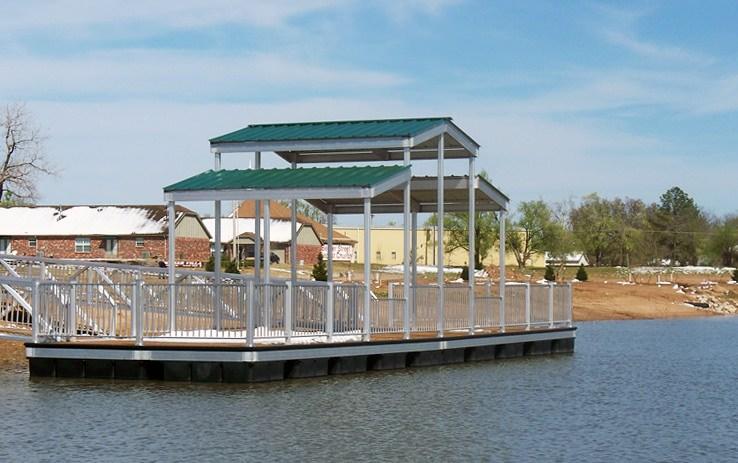 Dock Design Roofing From Wahoo Aluminum Docks