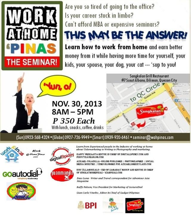 seminar Nov 13