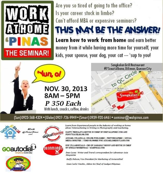 seminar Nov 7 afternoon
