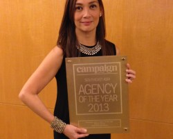 Filipinas have both Beauty and Brains. Merlee Jayme wins Creative of the Year at the 2013