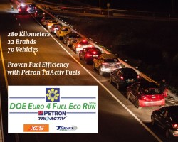 Results of the DOE 280-km fuel economy run with Petron TriActiv fuels