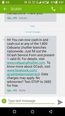 Where to cash in your GCASH