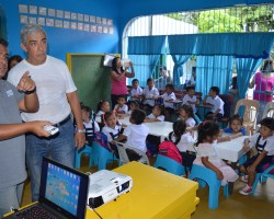 Family Life Missions receives technical training from Epson as part of the Gift of Brightness Donation