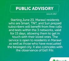 Smart Communications opens up their network for Free Calls and Texts in Marawi City