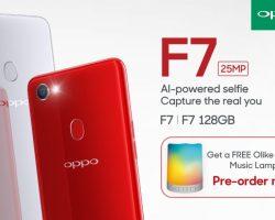 Pre Order the OPPO F7