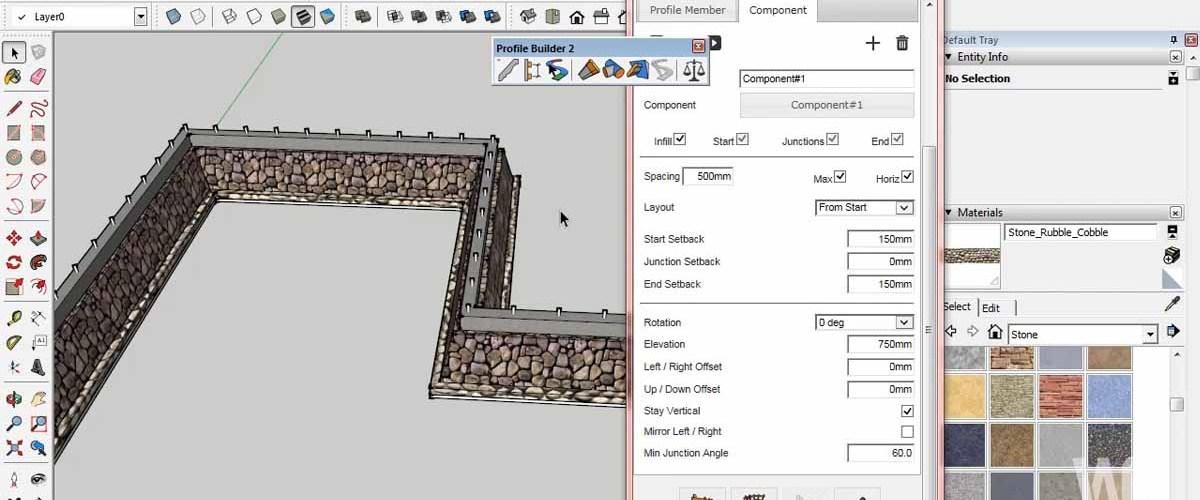 Profile Builder 2 Modeling Pondasi Rumah