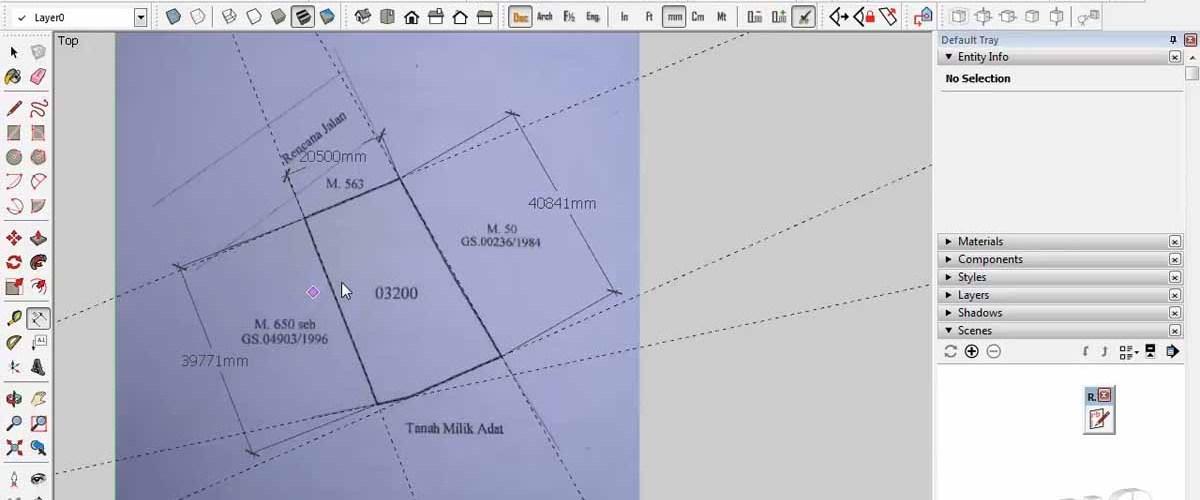 Mengetahui Skala Peta Asli Dengan SketchUp