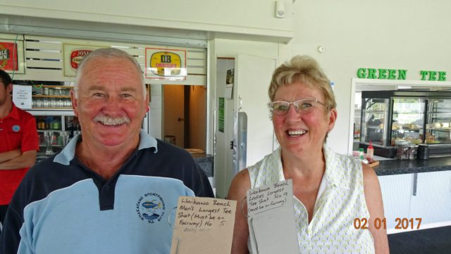 LONGEST TEE SHOT - Barry Smith and Cecily Archer