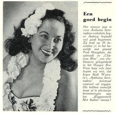 Joyce Aubrey in the Tuney Tunes of January 1957