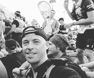 Owen Wainhouse - In the starting pen of the Ultra Trail du Mont Blanc