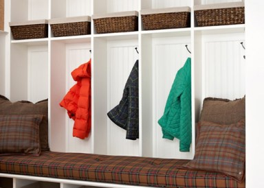 Mudroom Built In Cabinets by Wainscot Solutions