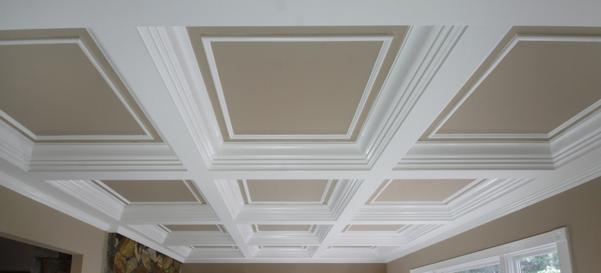 Coffered ceilings wainscot solutions inc for Coffered ceiling styles
