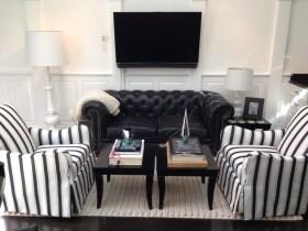 Raised Panel Wainscoting Living Room