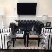 Raised Panel Wainscoting Living Room