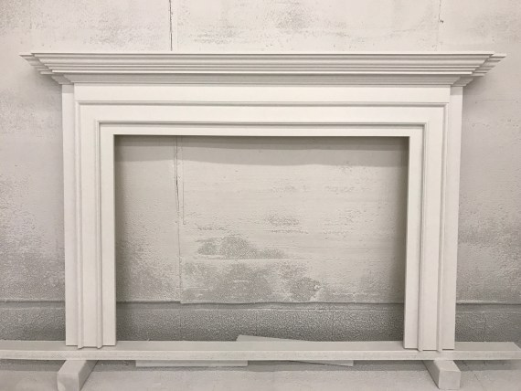 picture of a finished custom mantel