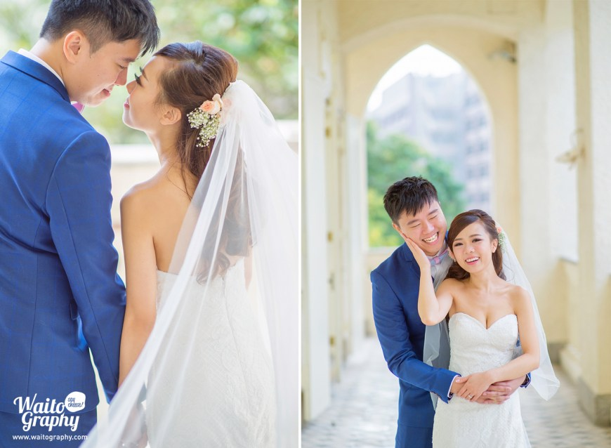 Sweet portrait of hk wedding couples by wedding photographer at 伯大尼