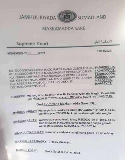 Maxkamada Sare Oo Wax Ka Bedal Ku Samaysay Qiimaha Magta, Qoonta, Iyo  Meherka Dumarka | Marsa News
