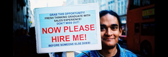 Not be the best way fro job seekers but this guy became famous, and recruiters took note.